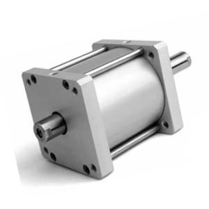 Cilindro Compacto D/E Magnético Haste Passante