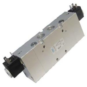 Electroválvula 5/3 Standard bi-estável Duplo Comando alimentação Separada Centros Abertos