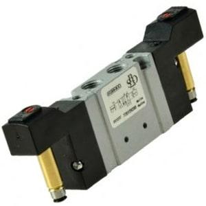 Electroválvula 5/3 Mini bi-estável Centros Abertos