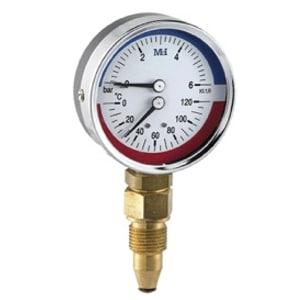 Termomanómetro Vertical Ø 80