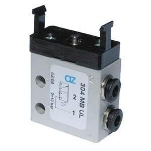 Válvula de pino 3/2 Micro Entrada Lateral Ø4mm N.A.