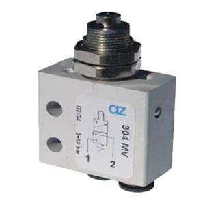 Válvula de pino 3/2 Micro Entrada Inferior para Painel Ø4mm N.A.