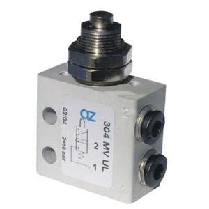 Válvula de pino 3/2 Micro Entrada Lateral para Painel Ø4mm N.A.
