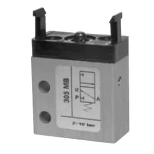 Válvula de pino 3/2 Micro M5 Entrada Inferior N.A.