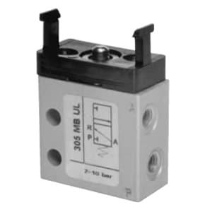 Válvula de pino 3/2 Micro M5 Entrada Lateral N.A.