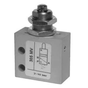 Válvula de pino 3/2 Micro Entrada inferior para Painel M5 N.A.