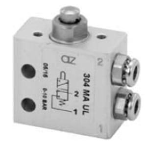 Válvula de pino 3/2 Micro Entrada Lateral Ø4mm N.F.