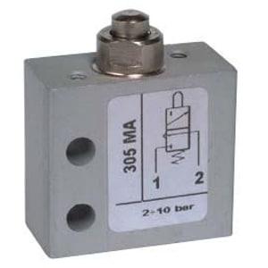 Válvula de pino 3/2 Micro Entrada Inferior M5 N.A.