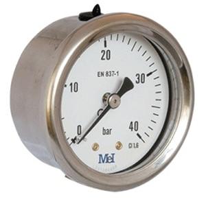 Manómetro a seco Rosca Horizontal Ø 40-50-63-80-100(MV)
