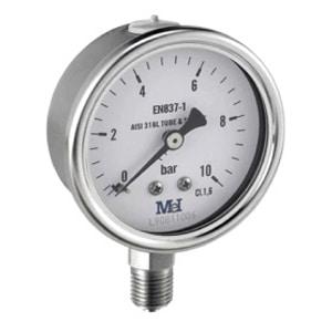 Manómetro a seco Rosca Vertical Ø 63-100-150(MV)