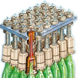 Sistema mangas ar comprimido manipulação de garrafas