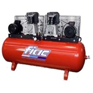 Compressor por Correia 7,5+7,5HP-10bar-1.670Lt/min-Depósito 500Lt.