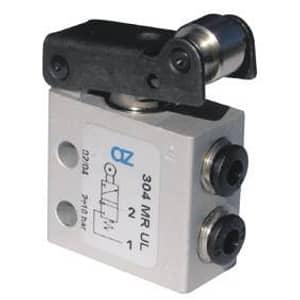 Válvula 3/2 de Rolo-Micro Ø 4mm-Alimentação Lateral-NA