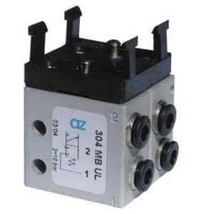 Válvula de pino Ø 4MM Micro para Botão-M5 Alimentação Lateral