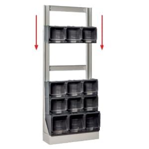 Rack para Caixas de Arrumação Empilhável com Gaveta Basculante